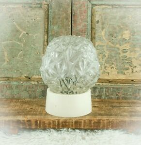Vintage Art Deco Clear Glass Lamp Shade Ceiling Light Plafonnaire