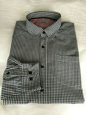 MEXX Black/White Checked Long Sleeved Cotton Shirt - Size: XL