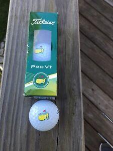 NEW 2015 Masters Augusta National Titleist Pro V1 (3 Golf Balls) Logo