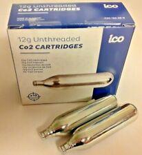 10 Co2 cartg 12g Non-Threaded 12 gram Eu C02 tire paintball air-soft 1 box of 10