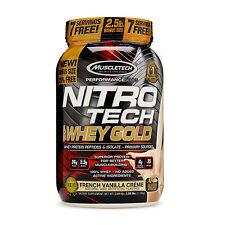 Muscletech Perf Series Nitro Tech 100% whey 2.5 lbs vanilla exp 7/19