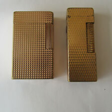 LOT BRIQUETS DUPONT DUNHILL LIGTHER PLAQUE OR GOLD