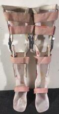 KAFO Orthopedic Knee Ankle Foot Orthosis Drop Lock Childs Braces L & R