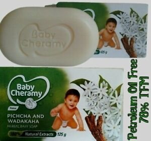 Baby Cheramy Jasmine And Turmeric Herbal Soap 100% Natural Extracts 125g