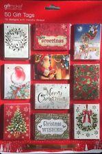 Christmas Xmas Card Gift Tags x 50