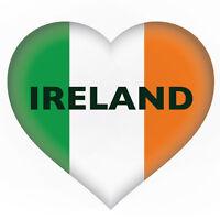 2 x IRISH HEART IRELAND Flag, car, van decal sticker