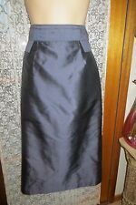 VINTAGE 50'S Style ~ Charcoal Silk WIGGLE SKIRT * Size 12 * SALE !! *