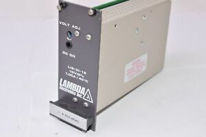 LAMBDA Model: LIS-31-15, Regulated Power Supply, Input: 95-132 VAC, 47-63 Hz