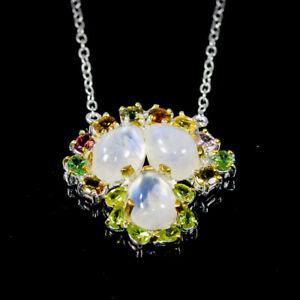 "Vintage Moonstone Necklace 925 Sterling Silver  Length 18.5""/N06138"