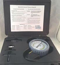 "KAL Equip 3-1/2"" Vacuum Pressure Gauge Kit New KM2513"