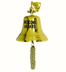Bell Solid Brass * WELCOME ABOARD * Bell