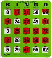 25 JUMBO Reusable Shutter Bingo Cards (Green)