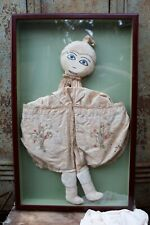 Rare Antique Cloth Doll Shadow Box Framed 16.25� by 26� (3Lp)