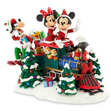 NIB 2015 Disney Parks Mickey & Friends Christmas Train Display Figurine - RARE!