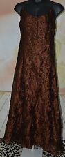 Georgiou Studio Womens Long Chocolate Brown Formal Dress Gown Size 12