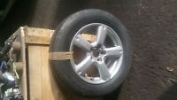 toyota rav 4 x1 spare alloy wheel and tyre road wheel 255 65 17  all94a