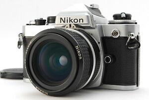 MINT/ Nikon FE + AI NIKKOR 28mm F2.8 SLR Film Camera from Japan #1447