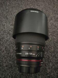 Samyang 135mm F2.0 ED UMC Nikon AE Telephoto Prime Lens - Black (F1112203101)