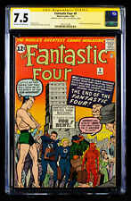 FANTASTIC FOUR #9 (1962) CGC 7.5 SS VF- signed by writer STAN LEE!!!  HTF!!!