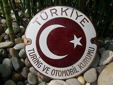 TÜRKIYE TURING VE OTOMOBIL KURUMU - AUTOMOBILE CLUB TÜRKEI  Plakette Car Badge