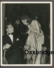 Dick Powell & Rosemary Lane 1937 Crail Photo Candid On Set Hollywood Hotel J5121