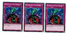 3 X Bodenlose Fallgrube YS17-DE037, Common, Playset, Link Strike, Mint