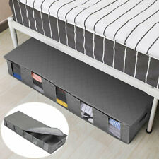 Large Capacity Under Bed Storage Bag Box 5 Compartments Clothes Shoes Organizer