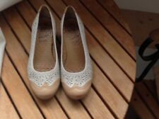 Caprice scarpe shoes schuhe pelle bianco 38,5 (5,5 UK) ballerine