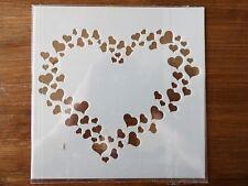 PLASTIC LOVE HEART STENCIL 130mm x 130mm