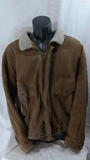 Vintage 1980s Members Only by Europe Craft Suede Leather Bomber Jacket Sz 44