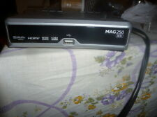 """MAG250 IPTV SET TOP BOX+REMOTE CONTROL+ POWER CORD+59"""" 3 RCA  CABLE"""