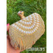 Gold Rhinestone Clutch Bag Wedding Bag Special Occassion