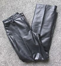 BANANA REPUBLIC SOFT BLACK LEATHER PANTS WOMEN 6 MOTORCYCLE FLAWLESS CONDITION