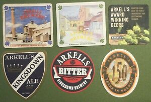 6 x Arkell's Beer Mats