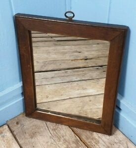 Mirror Antique Early Victorian Oak Glass Mirror 1850s Made In Scotland