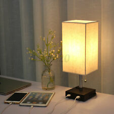 Set of 1/2 Bedside Table Lamps Modern Nightstand Fabric...