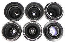 6 Bausch & Lomb 25,30,35,40,50,75mm f2.3 (T2.5) Baltar BNC mount Set