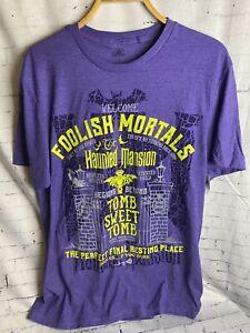 Disney Parks Foolish Mortals Haunted Mansion T-Shirt Men's XL New! DIS13