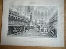 GRAVURE DE 1842 ABBAYE SAIT BERTRAND DE COMMINGES