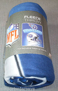 "NFL Tennessee Titans 50"" x 60"" Rolled Fleece Blanket Gridiron Design"
