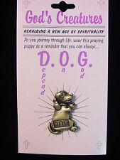 """JJ"" Jonette Jewelry Bronze Pewter 'God's Creatures - DOG' Tac Pin"