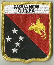 PAPUA NEW GUINEA FLAG EMBROIDERED PATCH BADGE