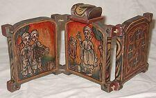 Ethiopian Coptic Christian Hinged Folding Wooden Hand Painted Altar Ethiopia