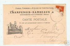 """COUSANCES-AUX-FORGES (55) USINE de Machines AGRICOLES """"CHAMPENOIS & RAMBEAUX"""""""