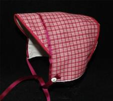 Red and White Plaid Baby Boy Hat