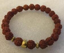 Rudraksha Mala Beads Buddhist meditation prayer 8MM Bracelet Small Shiva Tears
