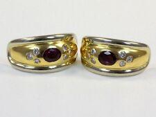 Diamanten-Ohrschmuck im Creole-Stil aus Gelbgold mit SI Reinheit Brillantschliff