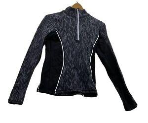 VSX Victorias Secret Small Quarter Zip Grey Black Reflective Str Active Stretch