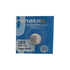 5-pack 384 / SR41SW Renata Silver Oxide Button Batteries