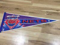 New Jersey Nets Pennant Vintage Standard Size NBA Basketball Brooklyn